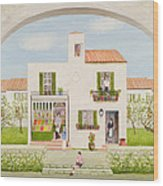 The Spanish Greengrocer, 1981 Wood Print
