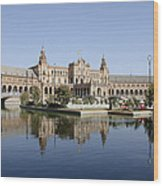 The Spanish Square In Seville Wood Print