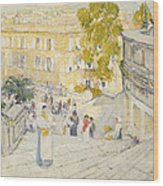The Spanish Steps Of Rome Wood Print