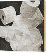 The Spare Rolls 1 - Toilet Paper - Bathroom Design - Restroom - Powder Room Wood Print