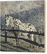 The Speckled Horse Wood Print
