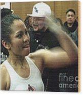 The Speed Of Woman's Boxing Champion Ana Julaton Wood Print