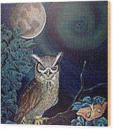 The Spirit Of The Night Wood Print