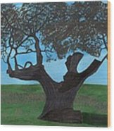The Split Tree - Bradgate Park Wood Print by Bav Patel