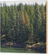 The Spokane River On Easter Sunday 2014 Wood Print
