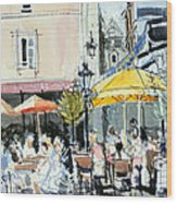 The Square At St. Malo Wood Print by Felicity House