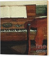 The Square Piano Wood Print