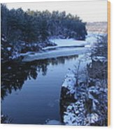 The St. Croix River In December Wood Print