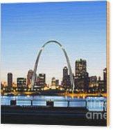 The St. Louis Skyline Wood Print