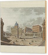The St. Peter's Cathedral In Rome Wood Print by Splendid Art Prints
