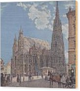 The St Stephen's Cathedral In Vienna Wood Print