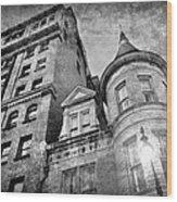 The Stafford Hotel - Grayscale Wood Print
