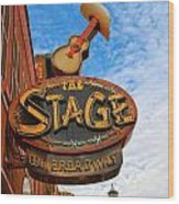 The Stage On Broadway Wood Print