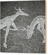 The Stags Wood Print