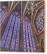 The Stained Glass Of La Sainte-chapelle Wood Print