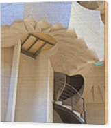 The Staircase Barcelona Wood Print