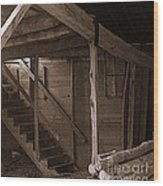 The Stairs Still Stand Wood Print