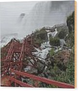 The Stairs To The Cave Of The Winds - Niagara Falls Wood Print