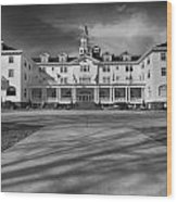 The Stanley Hotel Bw Wood Print