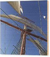 The Star Of India. Mast And Sails Wood Print