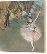 The Star Or Dancer On The Stage Wood Print
