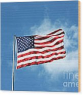The Stars And Stripes Wood Print