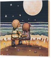 The Stars The Moon And The Tide Wood Print by Karin Taylor