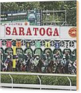 The Start At Saratoga Wood Print