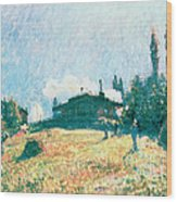 The Station At Sevres Wood Print by Alfred Sisley