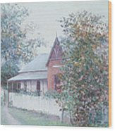 The Stationmaster's Cottage Wood Print