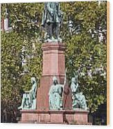 The Statue Of Istvan Szechenyi In Budapest Wood Print
