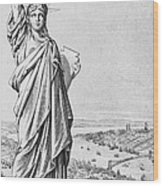 The Statue Of Liberty New York Wood Print
