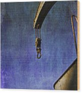 The Steam Crane Wood Print