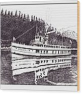 The Steamer Virginia V Wood Print