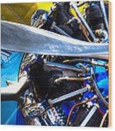 The Stearman Jacobs Aircraft Engine Wood Print