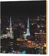 The Steeple City Wood Print