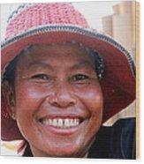 The Sticky Rice Lady Wood Print