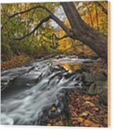 The Still River Square Wood Print by Bill Wakeley