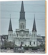 The St.louis Cathedral Wood Print