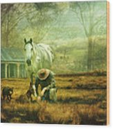 The Stock Horse Wood Print by Trudi Simmonds