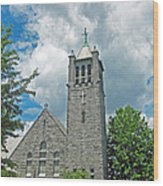 The Stone Church Wood Print