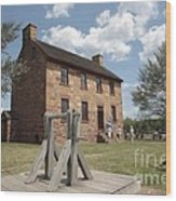 The Stone House At Manassas Wood Print