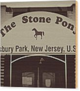 The Stone Pony Vintage Asbury Park New Jersey Wood Print
