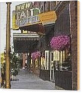 The Store Fronts Wood Print