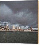 The Storm Over Manhattan Wood Print