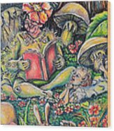 The Story Lady Wood Print