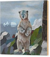 The Story Of The White Bear Wood Print