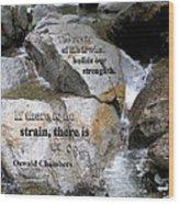 The Strain Of Life... - Yosemite Wood Print