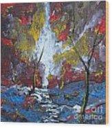 The Stream Of Light Wood Print