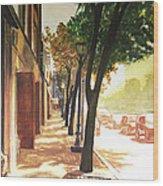 The Street Wood Print by Alyssa Kerr